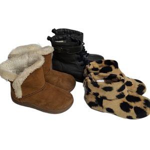 Girls Boots Bundle Toddler Size 8 animal print etc